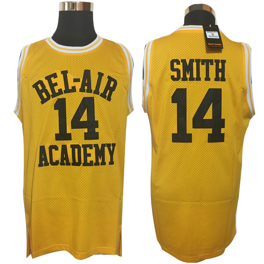new styles 9f240 c4aff US $15.88 15% OFF|2019 Mens Cheap throwback basketball jerseys Will Smith  Fresh Prince Jersey Yellow Hip Hop Shirts Top Basketball Jersey-in ...