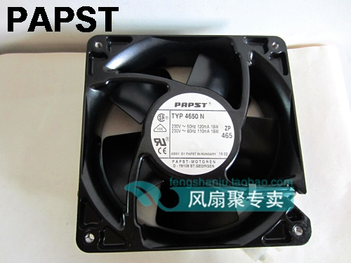 Original papst typ 4650N AC 230v 12CM 120MM 120*120*38MM cae axial cooling fan original ebmpapst17238 230v w2e142 bb01 01 cooling fan