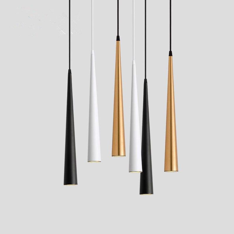 Dimmable COB cône LED moderne suspension en aluminium et en métal Home7w /12w suspension lampe salle à manger/salon Bar café luminaire