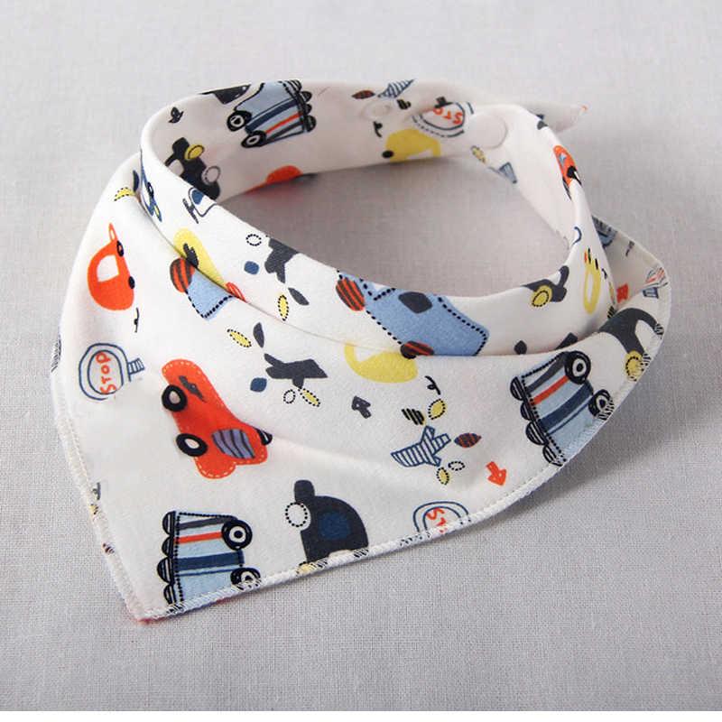 아기 bibs burp cloth beby bib bandana 먹이를 먹는 옷 방수 삼각형 코튼 만화 인쇄 아기 스카프 아기 액세서리