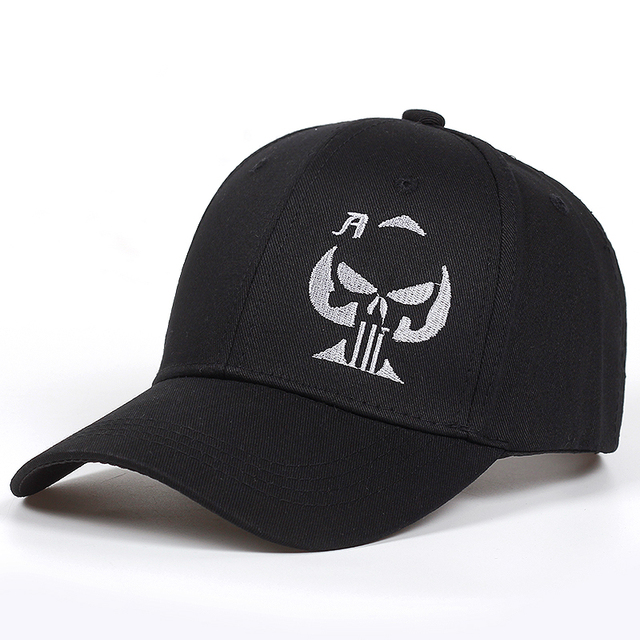 2018 new Old Playing Card Ace of Spades Cap skull Skull Sniper Hat  Embroidered Black Baseball Cap Hats Men Women golf Caps 09f1e14d524