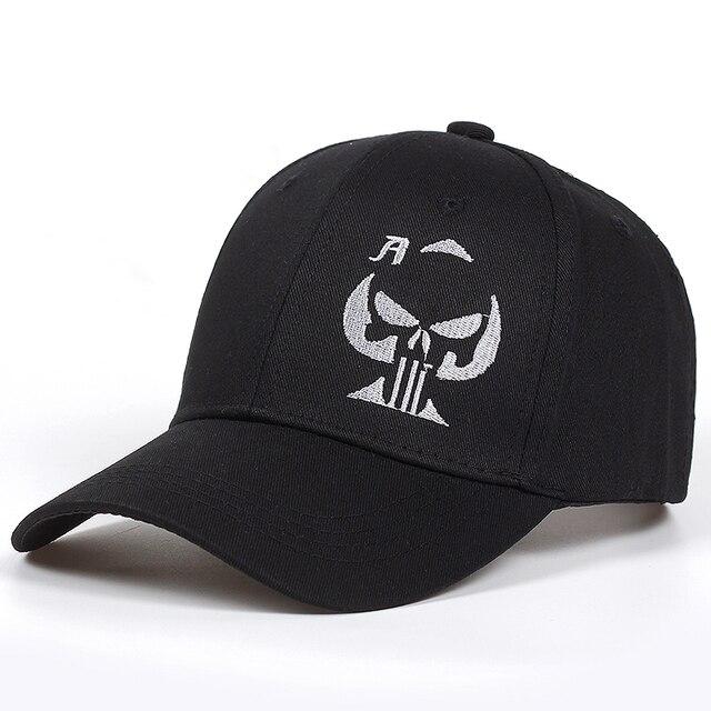2018 חדש ישן משחק כרטיס אס כובע גולגולת גולגולת צלף כובע רקום שחור בייסבול כובע כובעי גברים נשים כובעי גולף