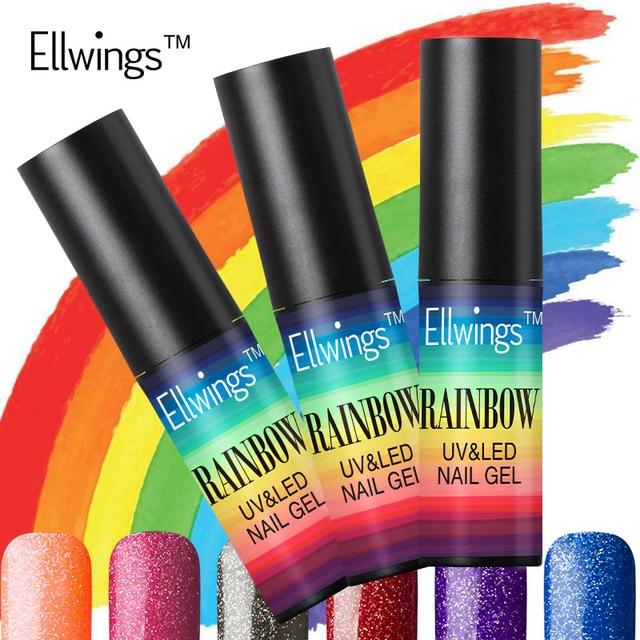 Ellwings Colorful Rainbow Neon Colors Nail Gel Polish Semi permanent ...