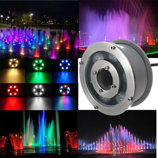 US $293.23 29% OFF|Aliexpress.com : Buy 6pcs/lot High Power LED Underwater  light 9W 12W IP68 White RGB Swim Pool fountain light DC 12V Night Pond ...
