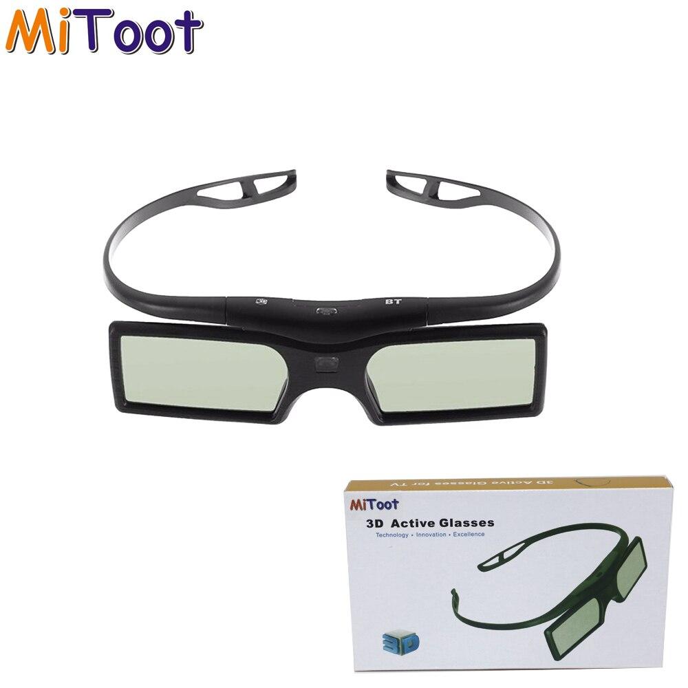 MiToot G15-bt 3D Active Shutter Bluetooth Glasses for Sony KD-55X8505C Samsung Panasonic Sharp 3d TV Replace TDG-BT500A/GX21-T
