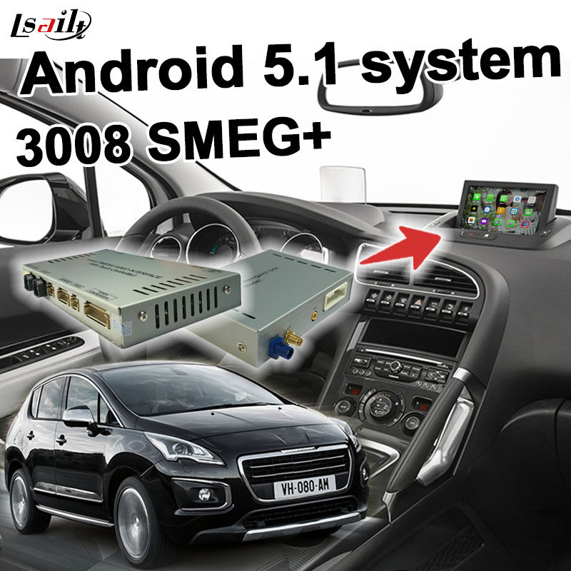 android 6 gps navigation box for peugeot 208 308 508 2008 3008 mrn smeg system video interface. Black Bedroom Furniture Sets. Home Design Ideas