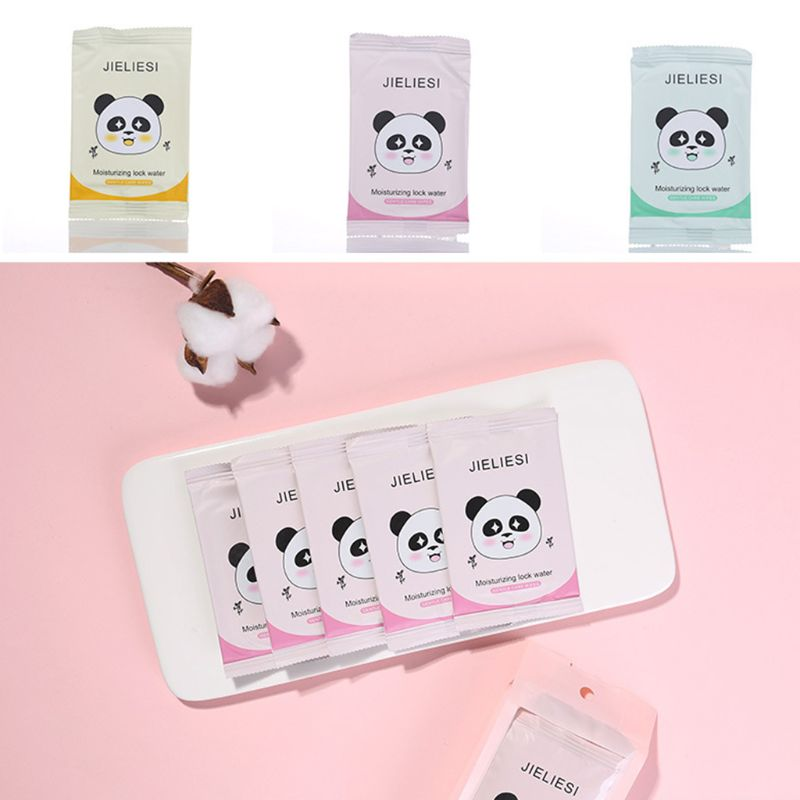 10PCS/Pack One-Time Face Towel Portable Non-Woven Wet Wipes Pearl Pattern Cleansing Tissue Beauty Tool Individually Wrapped
