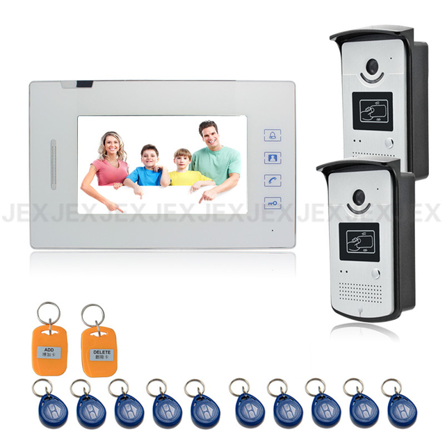 7 inch video door phone intercom system access control system 700TVL COMS Camera doorbell speaker intercom