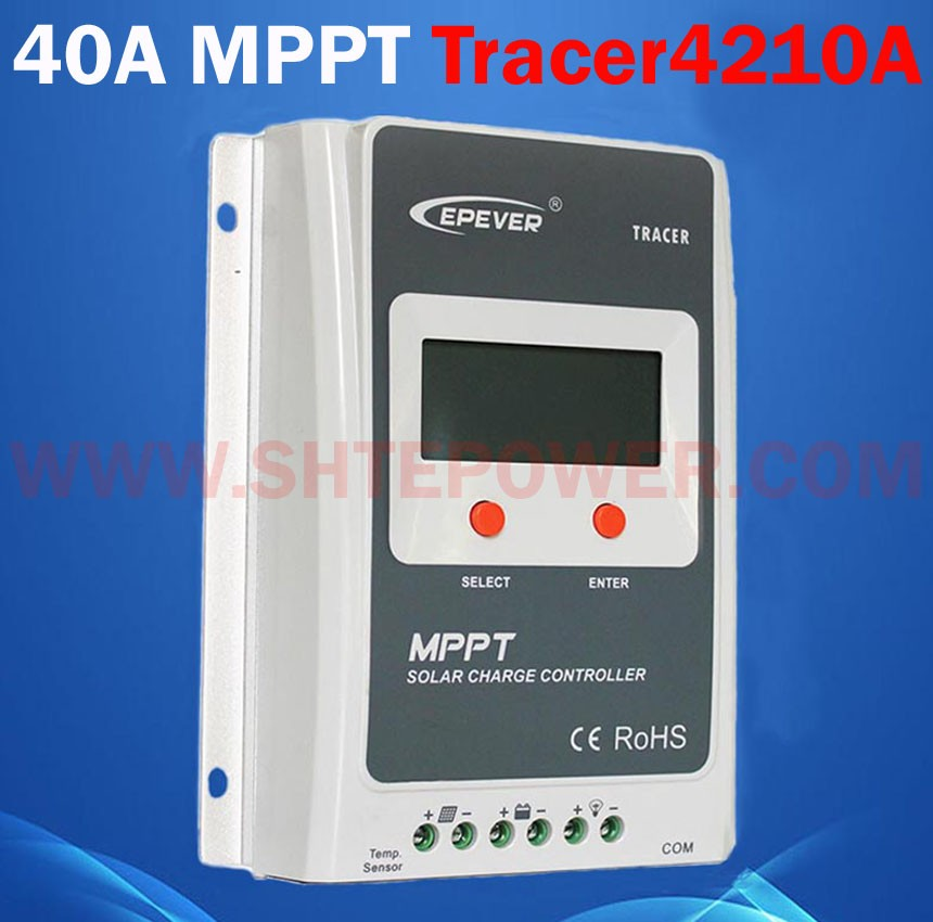 tracer 4210a max pv input 100v mppt solar charge controller 12v 24v 40a 12v 24v 48v mppt pv solar charge controller 40a 60a for solar system