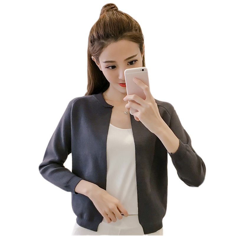 Autumn Women Kintted Jacket Coat Short Style Knitted Cardigan Coat Women 2017 Slim Women Jacke ...