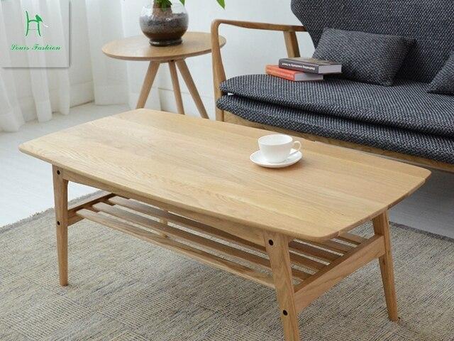 Moderne Salontafel Hout.Japanse Salontafel Eiken Eiken Massief Hout Thee Tafel Moderne