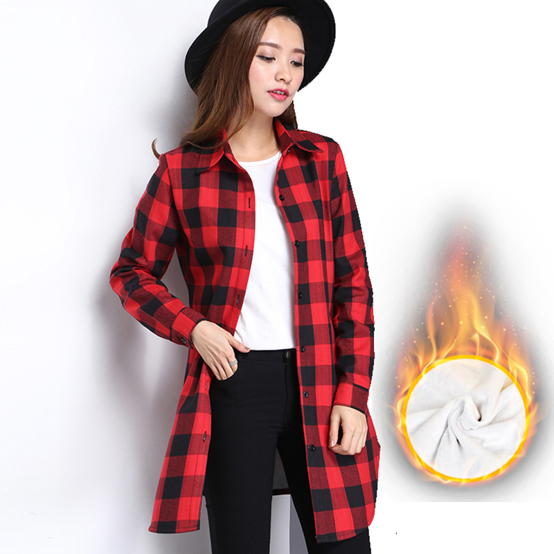 2017 fashion women plaid shirt flannel shirt long sleeve for Girl in flannel shirt