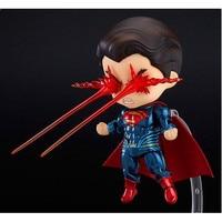 The Avengers Superhero Movie Superman Q Edition Challenge Batman 10cm PVC Action Figure Collectible Model Toy Boxed
