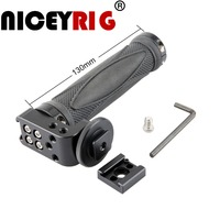 NICEYRIG Hot Shoe Handle Cheese Top Handle Grip Quick Release Mount Accessories DSLR Camera Rig with a Standard Shoe Rail Mount