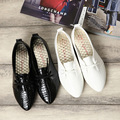 DreamShining Fashion Women Shoes Slip On Womens Flats Shoes PU Leather Casual Shoes Comfort Black / White