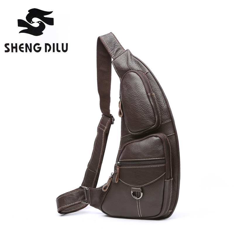 2018 New Brand Men's Fashion Crossbody Bag Real for Man Cow Genuine Leather Chest Bags Men Shoulder Bags Chest Waist Pack bolsa стоимость