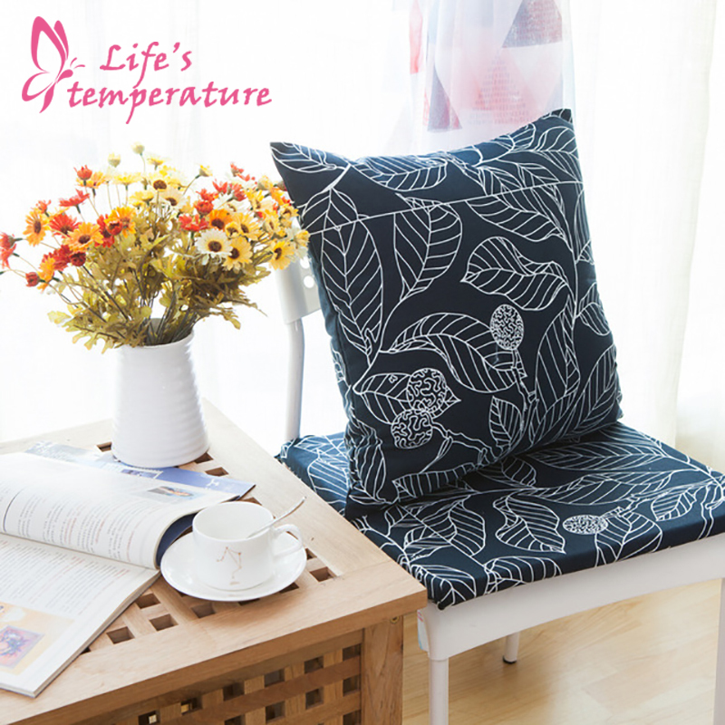Leaves Printing <font><b>Pillow</b></font> <font><b>Case</b></font> Office Lumbar <font><b>Pillow</b></font> Cover Soft Comfortable Polyester 60*60cm Home Bedroom Supplies Pillowcase image