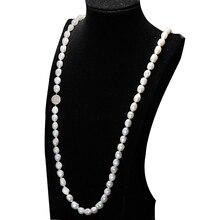 2016 Nueva Moda 100% collar de perlas de agua dulce 9-10mm natural collar de perlas 90,135,160,200 cm largo collar De mujeres