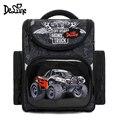 Delune 4X4 школьная сумка с машинками для мальчиков  детский ортопедический рюкзак  внедорожник  гоночный автомобиль  водонепроницаемая сумка д...