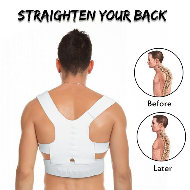 Wome Men Elastic Back Posture Corrector Vest Body Shaper Waist Trimmer Corrector Straighten Belt Brace Support Shoulder XL Size