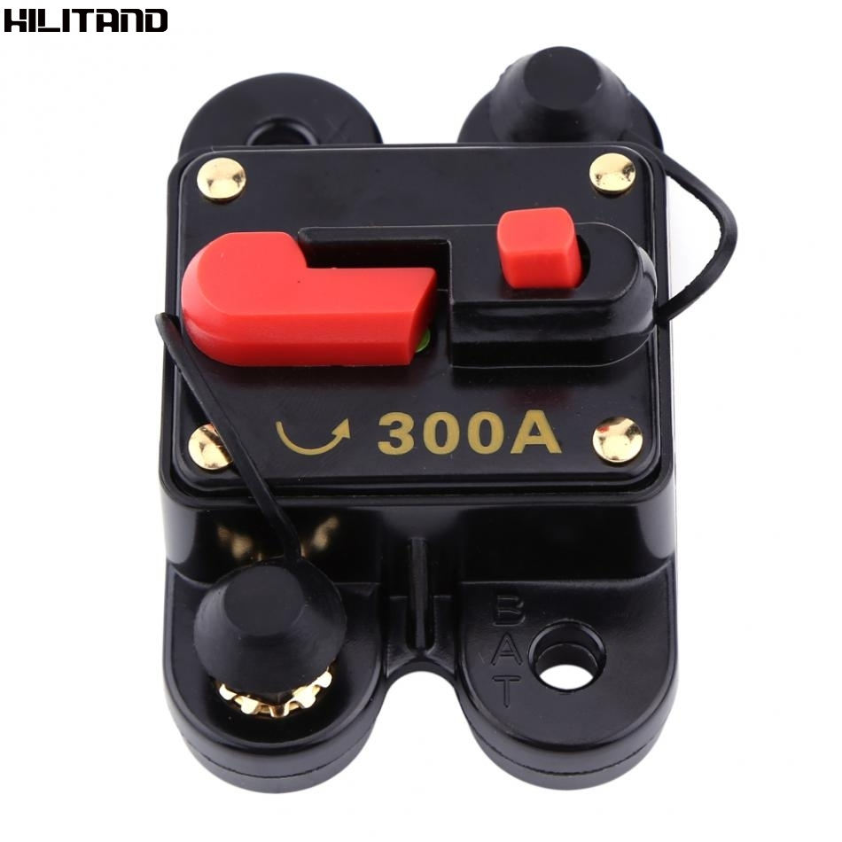 Size : 80A Circuit Breaker DC12V-42V 50A-100A Car Stereo Audio Inline Circuit Breaker Manual Reset