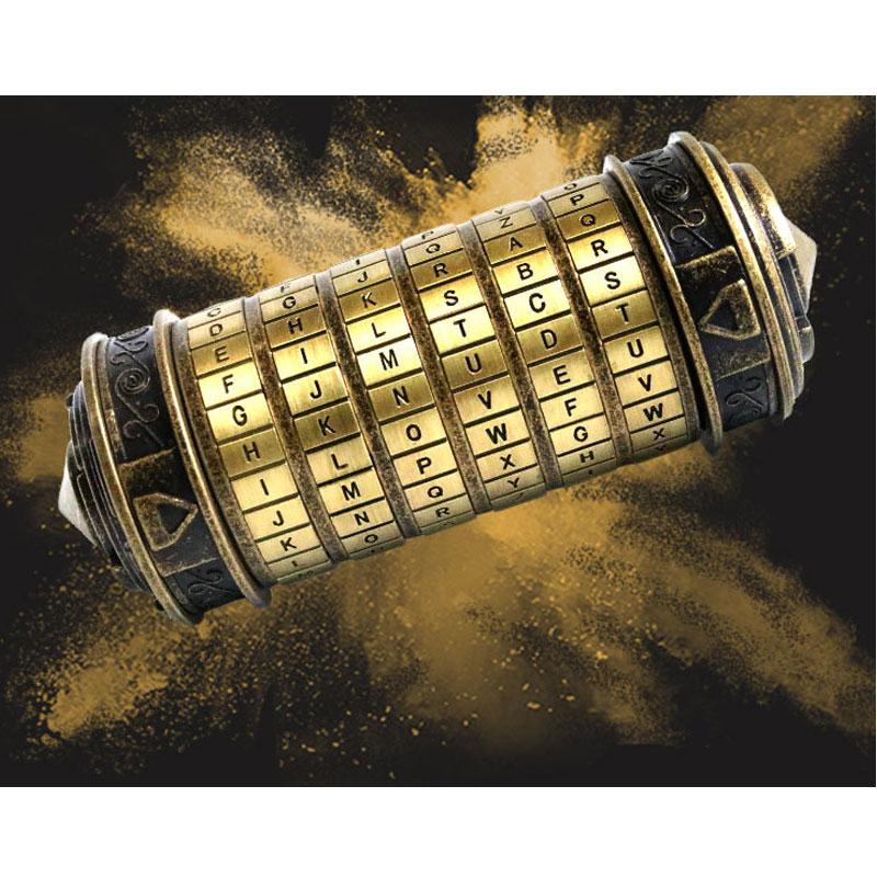 Leonardo Da Vinci Code cylindre Puzzle serrure alliage Zinc Cryptex saint valentin romantique anniversaire cadeaux évasion chambre accessoires - 5