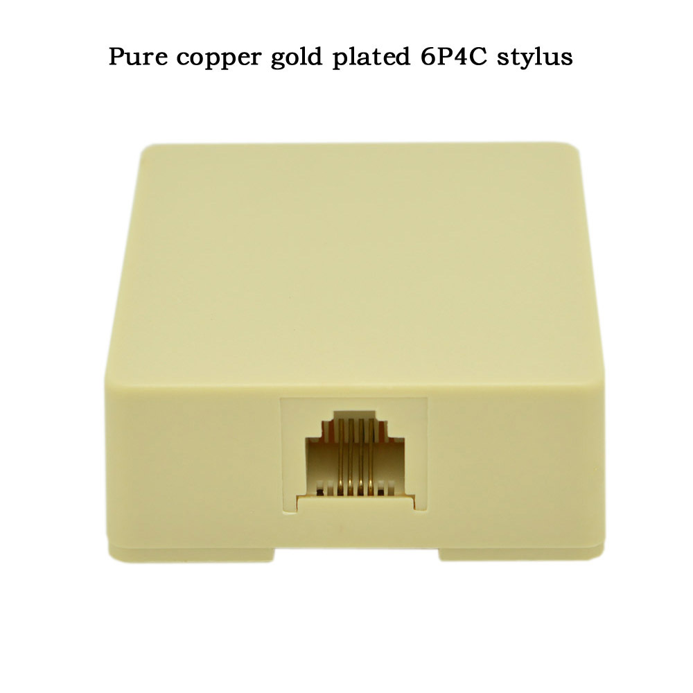 1-poorts desktop telefoonaansluitdoos aansluitkabel CAT3 verlengkabel - Computer kabels en connectoren - Foto 2