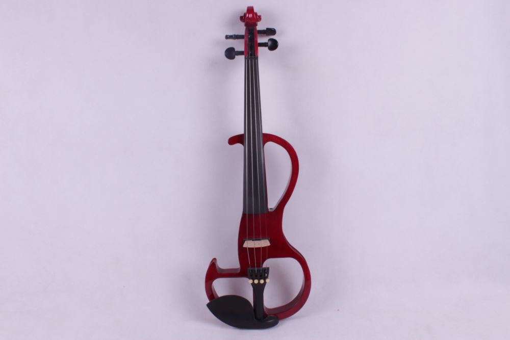 red  4 string  4/4 Electric Violin solid wood fine sound 1 Pcs the item is white   if you need other color please tell me 4 4 high quality 5 string electric violin yellow 2 pickup violin