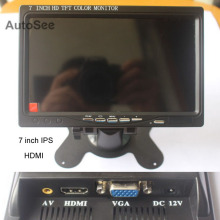 Lcd-Monitor Camera-System Ips-Screen HDMI TFT 7inch for 360-Around with Vga/av-Port