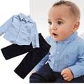 Ребенок мальчик одежда детская одежда сшитые звезда рубашка новорожденных детская одежда случайный набор одежды