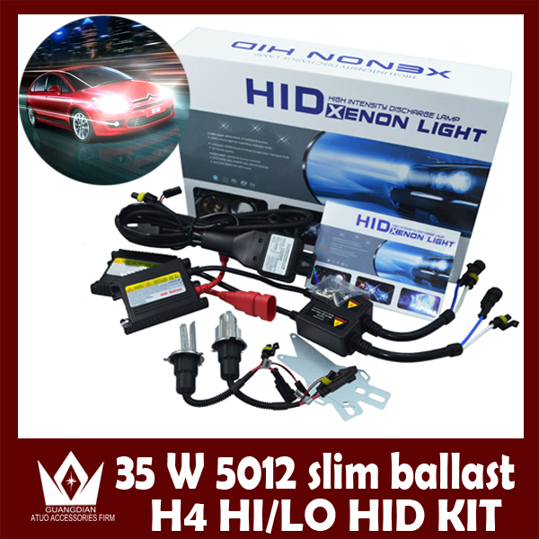 ФОТО Night Lord HID H4 Swing angle lamp kit 35W HID KITH4 Bi-Xenon HID KIT bulb H4 35W silm ballast for 3,000K-30,000k Free Shipping