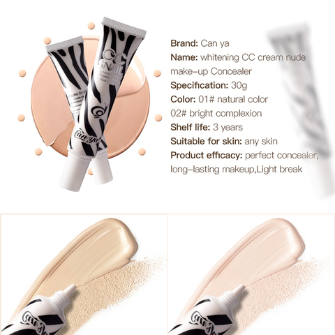Canya Perfect BB Cream Face Care Foundation Base CC Cream Makeup Brightening Concealer Cream Whitening Concealer Primer TSLM1 Islamabad