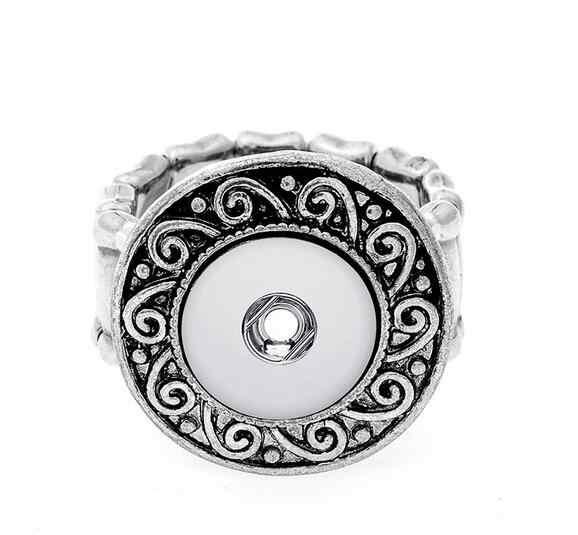 "2017 Vintage כיכר מצליפה אלסטי טבעת fit 12 מ""מ DIY כפתורי הצמד מתכת טבעת גברים של תכשיטי אופנה של נשים שעונים נשים"