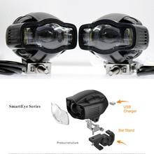 Мотоциклетный противотуманный Светильник Универсальный 22-40 мм IP65 светодиодный мотоциклетный головной светильник с USB зарядным устройством для Yamaha Kawasaki BMW Honda KTM ATV UTV