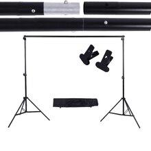 Andoer 2*3 m/6.6 * 9.8ft Ayarlanabilir Arka Plan Destek Standı fotoğraf arka fonu Kol Demiri Kiti ile iki Kelepçeleri