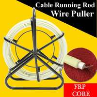 Fiberglass Cable Puller Fish Tape Cable Running Rod Duct Reel Wire Puller for 4.5mmx100m Steel Wire
