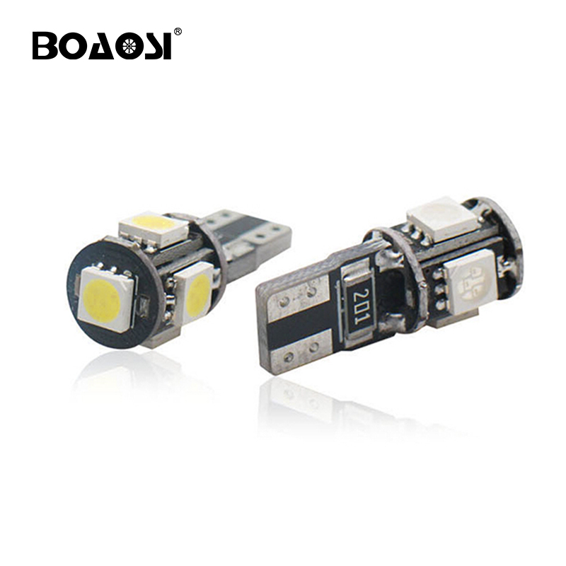 4 X T10 Car Bulb w5w 501 LED Interior Side Lights 5 SMD 5050 CANBUS Error Free