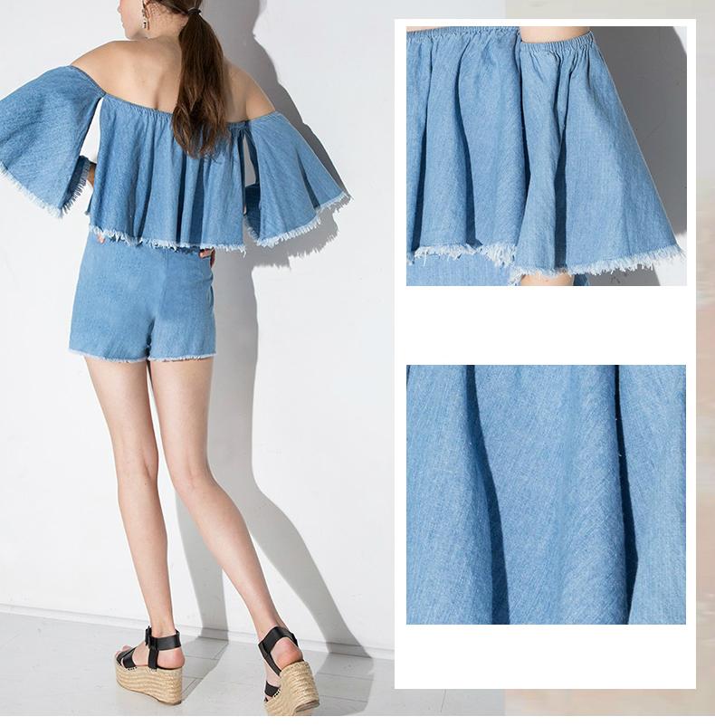 HTB1QGxrRXXXXXXqXVXXq6xXFXXXi - Slash-Neck Off Shoulder Tops Fashion Denim Shirts JKP190