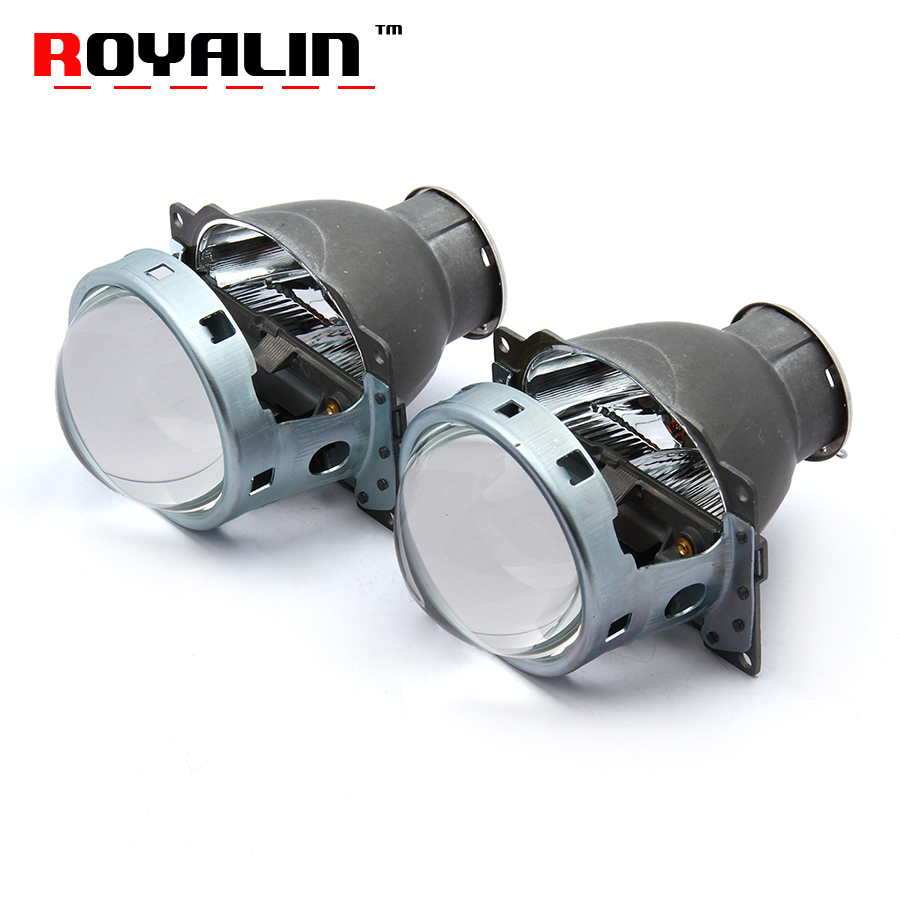 ROYALIN Voiture Q5 Phares Halogène Lentille Bixenon H7 Métal Projecteur 12 v LHD RHD pour Automobiles D2S D2R Externe Lampes rénovation