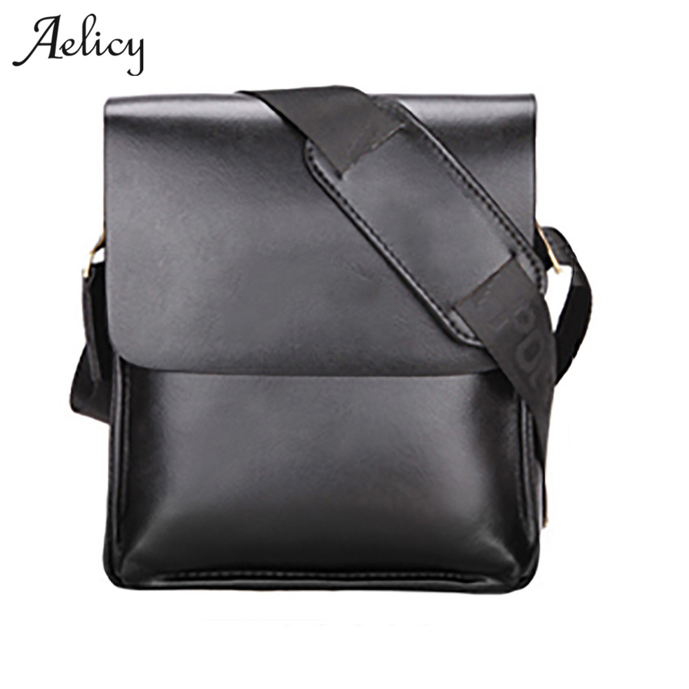 Aelicy Famous Brand Leather Men Bags Casual Business Leather bolsa masculina men's crossbody bag men messenger leather mens