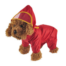 Pet Dog Hoody Jacket Rain Coat New Pets Dogs Solid Raincoat Clothes Slicker Jumpsuit Chubasqueros Para Perros Poncho Ropa Perro