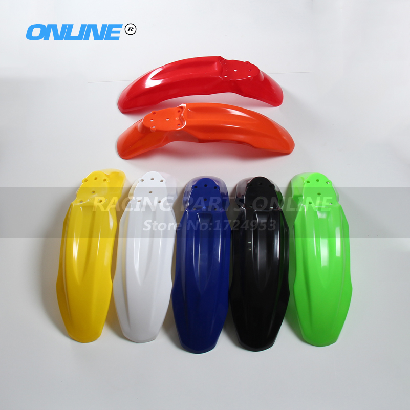 motorcycle motorcross front mudguard front fender plastic cover for Chinese made CRF70 style pit dirt bike 150cc 160cc plastic front plastic number plate fender cover fairing for honda crf100 crf80 crf70 xr100 xr80 xr70 style dirt pit bike