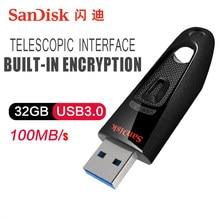 SanDisk – clé USB 100% 128 originale CZ48 cel, support à mémoire de 16GB 32GB 64GB 256GB 3.0 GB, lecteur Flash