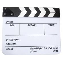 Acrylic Clapboard Dry Erase Movie Clapper Board Slate 29.8 x 24.5cm