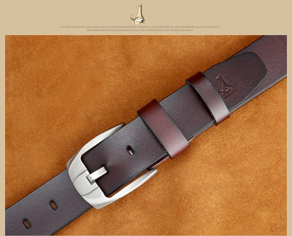 [MILUOTA] 2016แฟชั่นออกแบบเข็มขัดผู้ชายที่มีคุณภาพสูงวัวแท้สายหนังผู้ชายเข็มขัดMU065 29