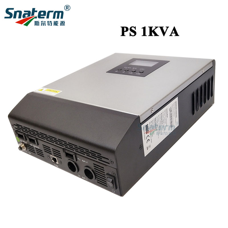 1KVA Pure Sine Wave Hybrid Solar Inverter Built-in PWM Solar Charge Controller and AC battery charger for Home Use