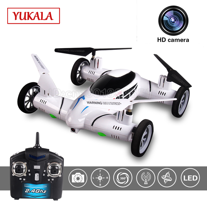 YUKALA X25-1 SY X25 Flying Car 2.4G RC Quadcopter Updated Version Drones 6-Axis 4CH Can 2MP HD Camera Helicopter toys for kids sy x25 rc quadcopter spare parts front right wheel