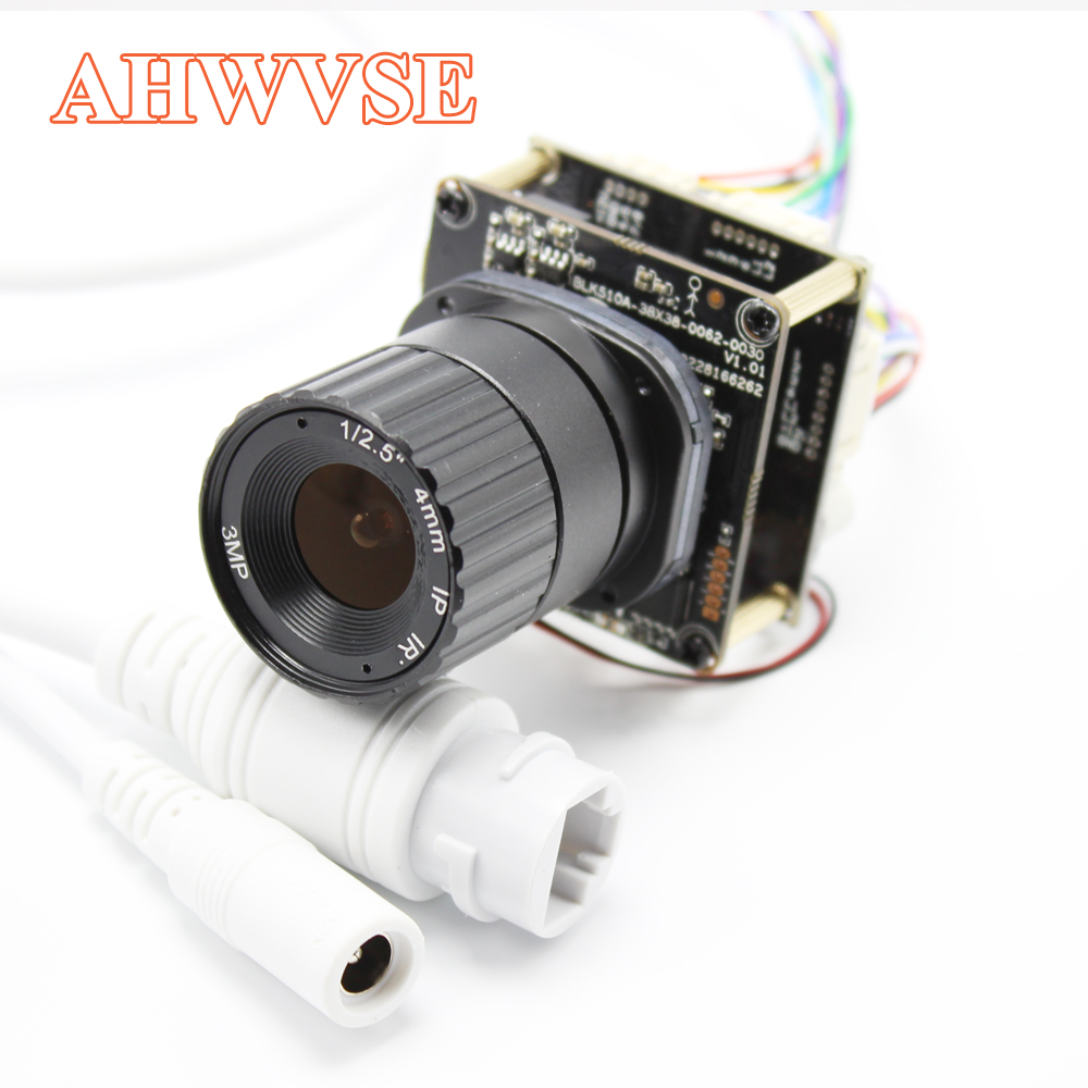 AHWVE 4MP OV4689 POE IP Camera module Board with IRCUT RJ45 Cable Mobile APP CS XMEYE DIY CCTV Security 1080P 2MP ONVIF H264