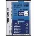 100% nohon bateria nova para lg g3 d830 d850 d851 d855 d858 d859 vs985 f400k/s/l f460 bl-53yh 3000 mah da bateria
