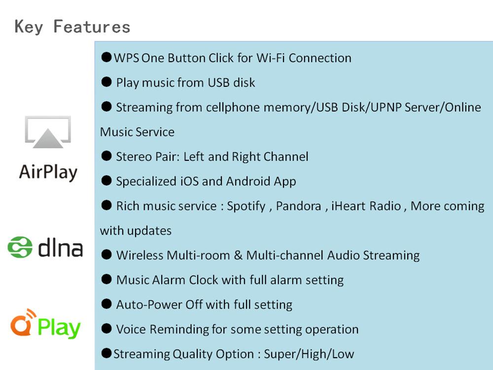 2019 new Wireless Wifi Audio Receiver DLNA Airplay Support Spotify Wireless  Sound Streamer Wireless music